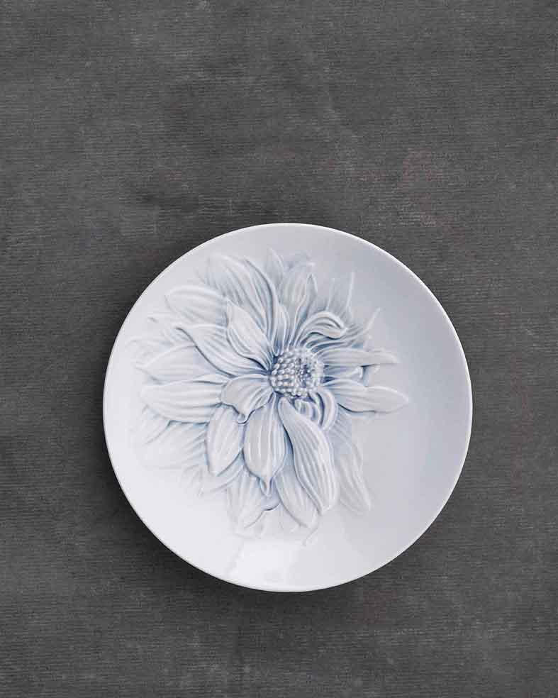 Dahlia plate, The Art of Giving Flowers, 2008