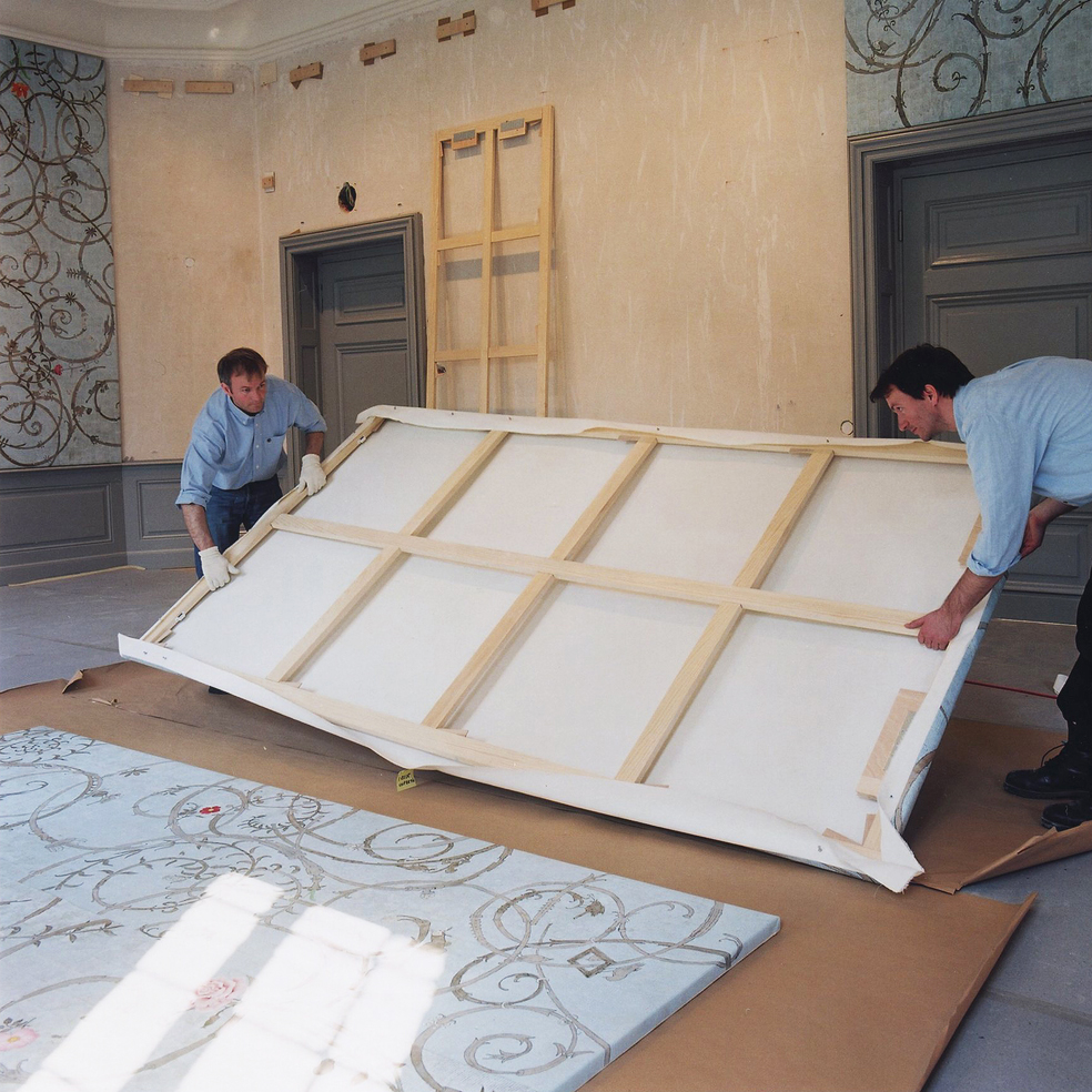 Installing, Banqueting Hall, Castle Benrath, 2001/2002