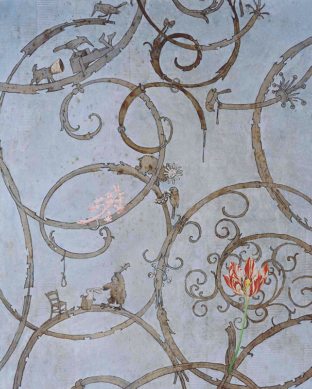 Detail, Banqueting Hall, Castle Benrath, 2001/2002
